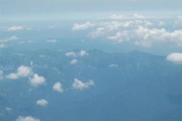 機上からの朝日連峰