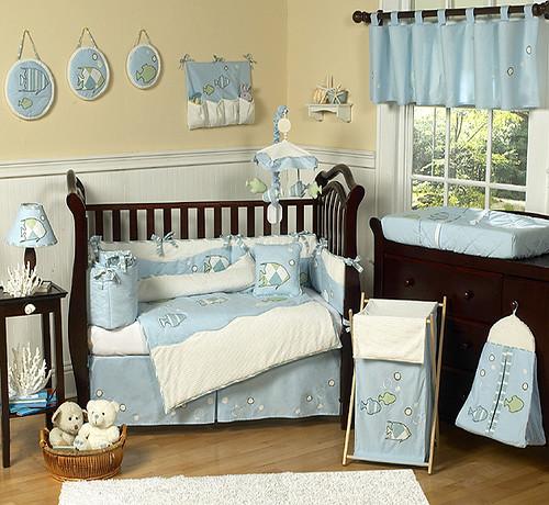 JoJo Designs Go Fish Cribset at www.uniquelinensonline.com