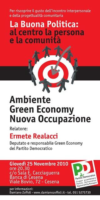 """""""AMBIENTE, GREEN ECONOMY, NUOVA OCCUPAZIONE"""""""