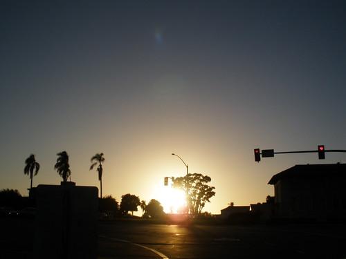 サンディエゴの美しい夕日