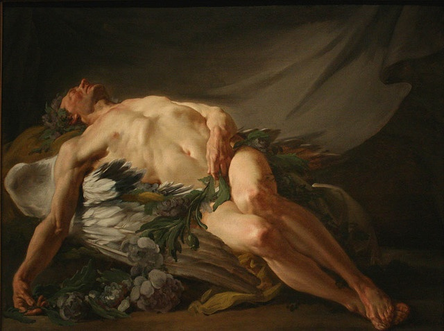 Jean-Bernard Restout (French, 1732-1796) Morpheus or Sleep (n.d.) Oil on canvas 97 by 130 cm. The Cleveland Museum of Art, Cleveland.