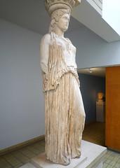 Caryatid (left view), Erechtheion, Acropolis, Athens