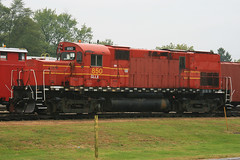 Alco C420 - North Judson, Indiana (JFeister) Tags: railroad red museum train canon forsale diesel engine indiana valley locomotive alco hoosier c420 hvrm northjudson