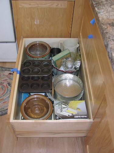 Baking Zone: Bottom Drawer under Breadboard