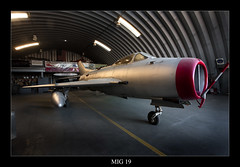 Russian MIG-19 (CameraOne) Tags: california plane silver raw fighter riverside russia 1950s soviet handheld restoration canon5d hanger coldwar mig cannons supersonic russianaircraft mach1 singleseat marchafb mig19 120sec canon1740mm