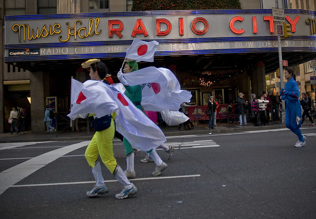 International Run along Fifth Avenue in front of the Radio City Music Hall.
