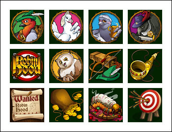free Robin Hood Feathers of Fortune slot game symbols