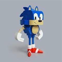 Lego Sonic the Hedgehog-ish (Fredoichi) Tags: sculpture lego character games sonic videogames sega rendition sonicthehedgehog fredoichi