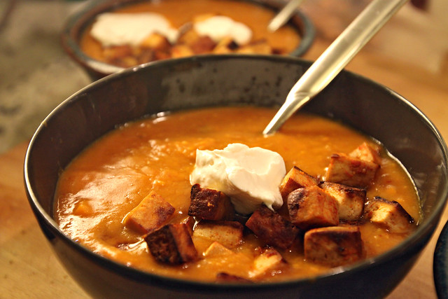 Sweet potato chipotle bisque