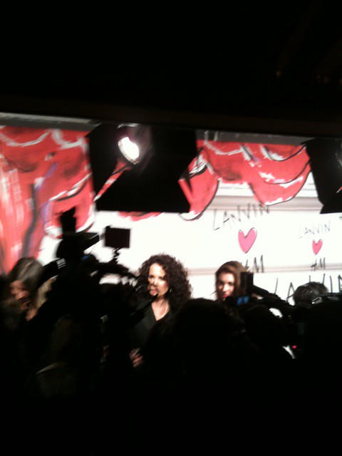 03 Andie Macdowell interviewed on the Lanvin for H&M party redcarpet