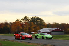 458 vs 560 (Alex Weber) Tags: verde green alex speed canon drag photography italian italia 14 fast run ferrari racing exotic lp 7d vs ithaca lamborghini runway mile weber lambo 560 459 458 lp560