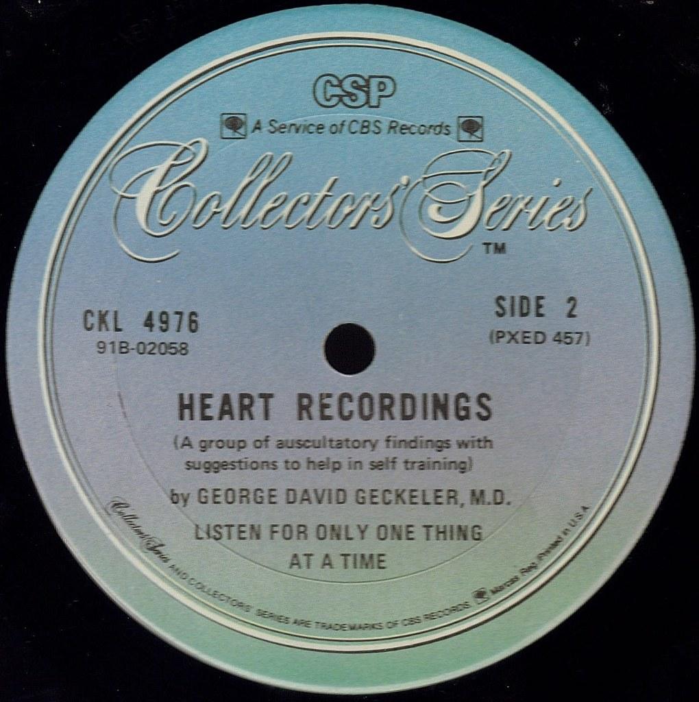 George David Geckeler M.D. George D. Geckeler M.D. Stethoscopic Heart Record