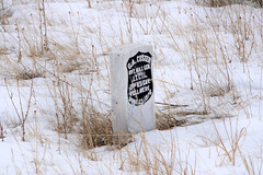 Winter Scene, Little Big Horn - 04 (WY Man) Tags: winter snow grave army montana indian headstone tombstone battle nativeamerican crow battlefield cheyenne littlebighorn custer crazyhorse sioux lakota oglala