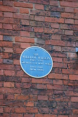Photo of William Wilson blue plaque