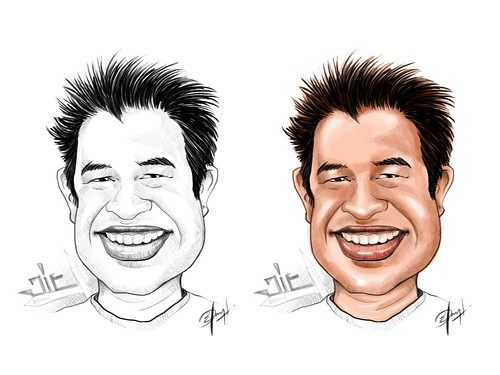 My caricature by Elo