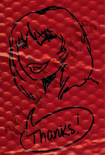 Joan Jett envelope sketch - by Danielle Soloud