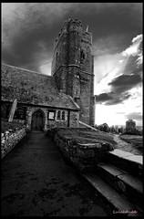 Church Of Souls (lulahbubb) Tags: door white black church stone clouds grey path steps mywinners wemburychurch elementsorganizer