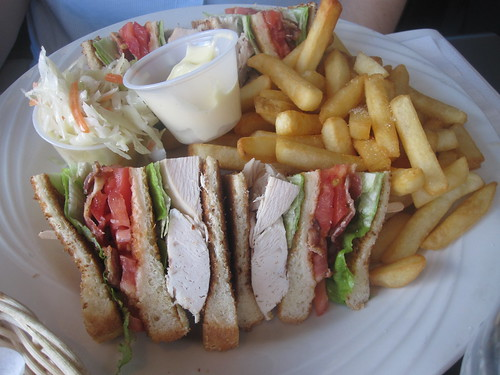 club sandwich at Megabytes