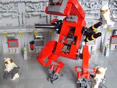 Photo Session at hangar (AlterEvo) Tags: red army lego space armada future evo roja moc