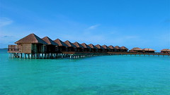 Stilt houses in Maldives (Conrad de Jesus) Tags: travel beach maldives stilthouses g9
