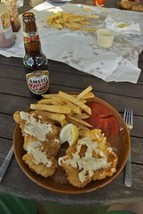 Fishnchips (phrase!) Tags: ocean sea newzealand summer beach warm pacific chips bach coopers northlands putekawa