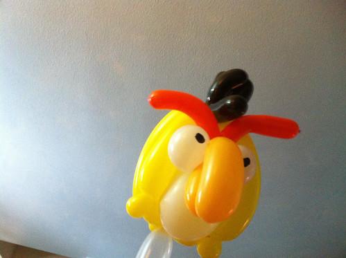 Yellow angry bird