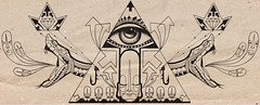 Justia (.  F L F  .) Tags: white eye art skull design king pyramid snake secret ghost monk tibet diamond freemasonry crown arrow olho serpent hook tatoo coroa ilustration fantasma buda freemason grafite piramide tatuagem blak monge serpente justia crnio maonaria anzol secreta maom franciscofreitas