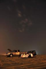 (Jassim Al-Mulla) Tags: moon car night sand desert landscap