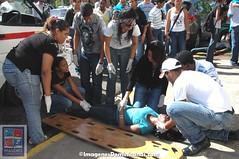 Simulacro de accidente en la UASD