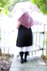 ain't gonna stop the rain by complainin' (~*~...nicole...~*~) Tags: me rain umbrella rainbow selfie blartsy 2010yip 11232010