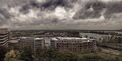A Room with a View (GHD PHOTOGRAPHY & DESIGN) Tags: city trees roof sky brick fall monument clouds landscape dc washington rooftops top district sony gray columbia panoramic rainy alpha virgina 2010 histroy a700 dslra700 ghdphotographyanddesign