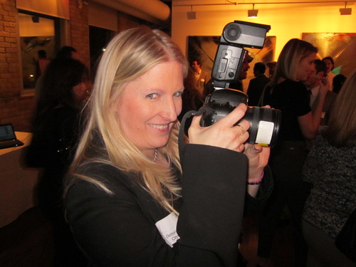 Deb Lewis with Camera at Event