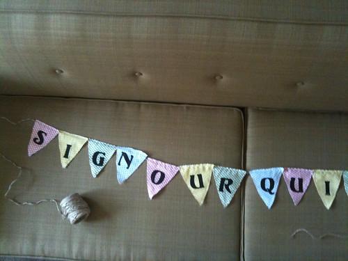 Wedding quilt banner