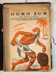 """""""Homo Sum"""", portada de Manolo Prieto (obaku estudio) Tags: 1940 ilustración manoloprieto diseñográficoantiguo"""