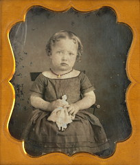 Ella Wallace & Her Dolly (Mirror Image Gallery) Tags: antiquetoy victorianchildren chinaheaddoll victoriantoys