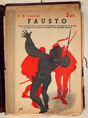 """""""Fausto"""", portada de Manolo Prieto (obaku estudio) Tags: 1940 ilustracin manoloprieto diseogrficoantiguo"""