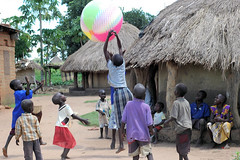 Beach Ball in Africa (dreamofachild) Tags: poverty children village african poor orphan orphanage uganda humanitarian villagers eastafrica pader ugandan northernuganda kitgum humanitarianaid aidsorphans waraffected childcharity lminews