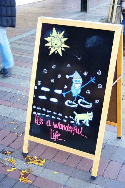Wonderful Life sign
