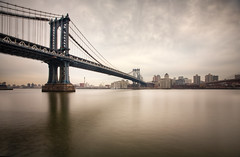 The Manhattan Bridge (chris lazzery) Tags: newyorkcity newyork brooklyn manhattanbridge eastriver 5d canonef1740mmf4l leefilters bw30nd