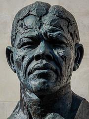 Nelson Mandela Sculpture - Bust  (Southbank - London) (Olympus OM-D EM1-II & M.Zuiko 12-100mm f4 Pro Zoom) (1 of 1) (markdbaynham) Tags: sculpture bust figure bronze nelson mandela southbank london londonist londoner urban metropolis street uk gb oly olympus omd em1 em1ii em1mk2 csc evil mirrorless m43 mft m43rd micro43 mzd mz zd mzuiko 12100mm f4 pro travelzoom zoom
