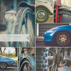 A RAYAS. Junio 2017 (la GRAELLA vintage) Tags: ruedas wheels vintage mural collage mosaic mosaico car coche bicicleta bici bycicle bike llantas