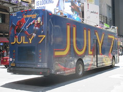 Spider-Man Homecoming Bus Ad 2017 NYC 8269 (Brechtbug) Tags: spiderman homecoming bus ad movie poster billboard 49th street 7th avenue 2017 nyc super hero marvel comic comics character spider man new york city film billboards standee theater theatre district midtown manhattan amazing home coming ads advertising yellow jacket cel phone cell mobile cellphone