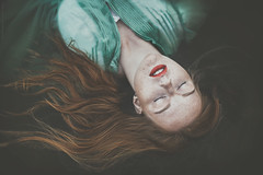 Ophelia (gorecka) Tags: woman water people natural redhead portrait lips ophelia