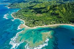 Haena & Tunnels Beach, Kauai (Garden Isle Images) Tags: kauainorthshore kauai hawaii heana tunnels landscape seascape arial helicopter