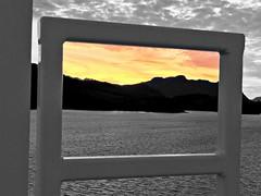 British Columbia ~ framing the sunset (karma (Karen)) Tags: canada britishcolumbia cruising hollandamerica mountains sea sunsets selectcolor sliderssunday hss topf25