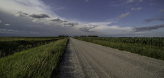Rain Approaching (Russell_Holmes) Tags: iowa countryside approachingstorm midwest summer corn road clouds farm