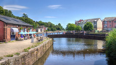 The riverside at Exeter (Baz Richardson (trying to catch up)) Tags: devon exeter riverexe riverside rivers bridges
