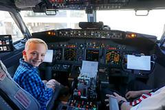 Max is our copilot (benjaminfish) Tags: pilot copilot southwest airlines cockpit 737 jet flight july 2017 kid controls fly
