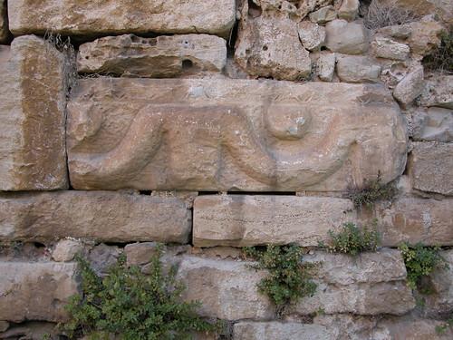 DSCN9916 Sinop, prison, mur détail avec sculpture