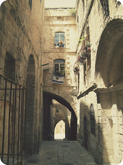 unaware (Isadora's Photo Booth) Tags: window israel alley jerusalem portal oldcity